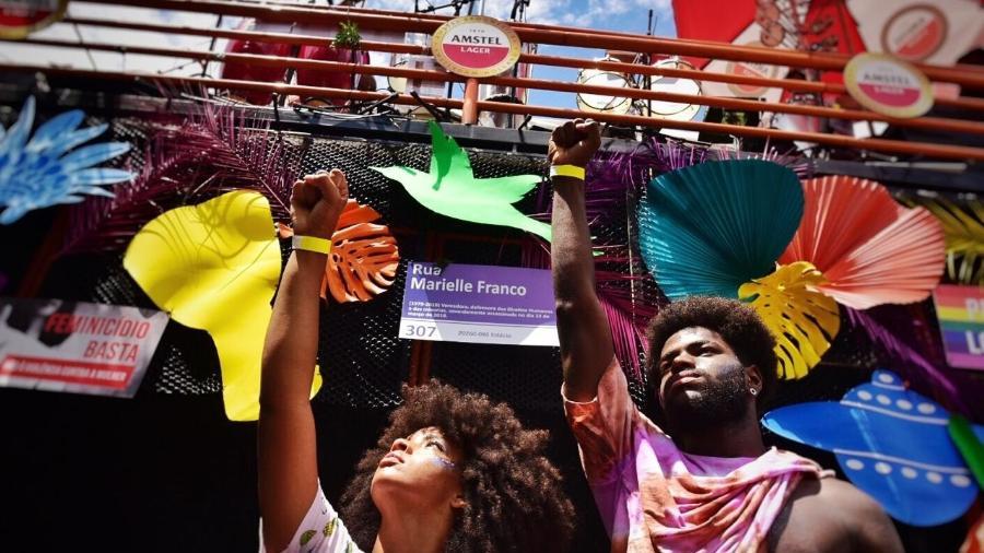 Resistência marca o bloco Chama o Síndico, em Belo Horizonte - Nereu Jr/UOL
