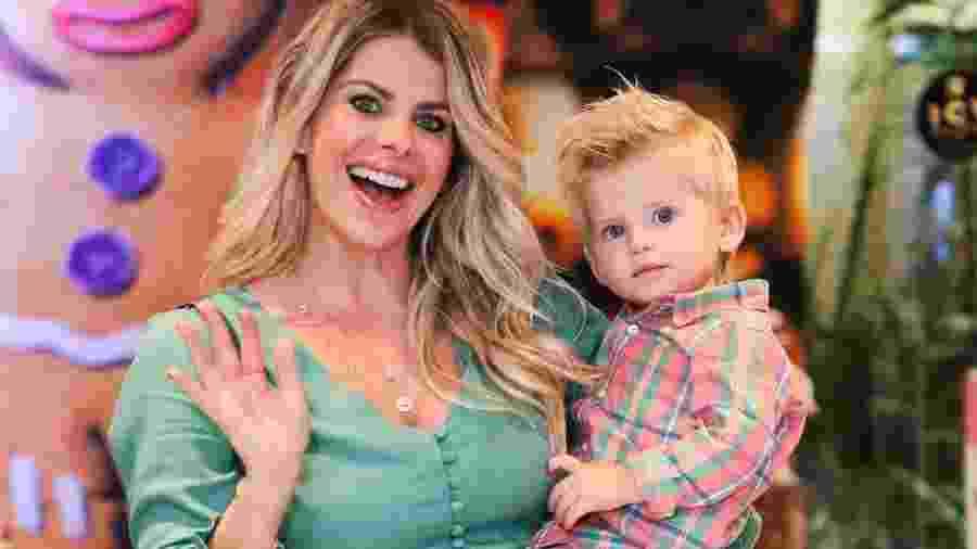 Karina Bacchi e o filho Enrico - Manuela Scarpa/Brazil News