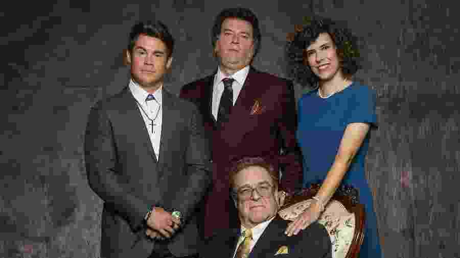 John Goodman (centro), Adam Devine, Danny McBride e Edi Patterson em cena da série The Righteous Gemstones - Divulgação