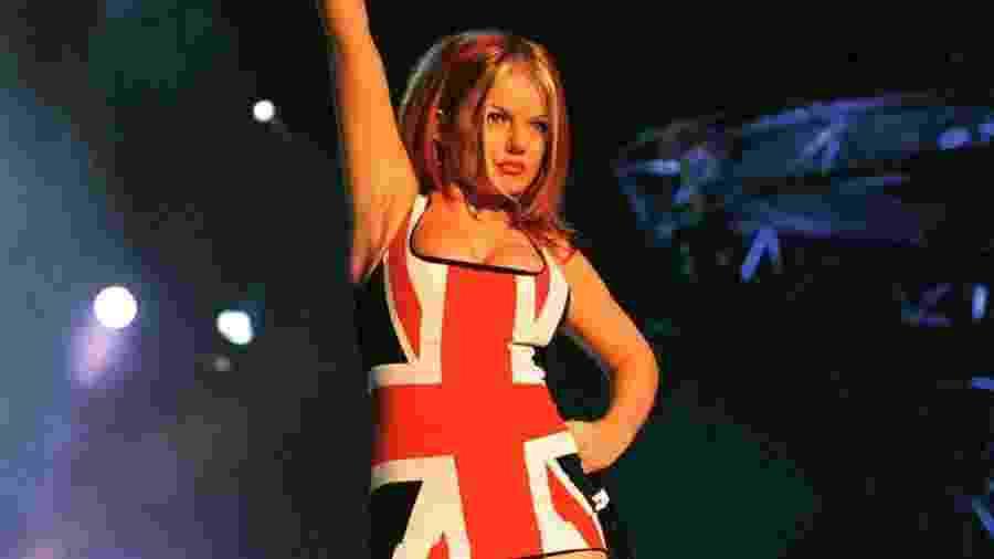 Geri Halliwell, das Spice Girls, no Brit Awards 1997 - Reprodução/Instagram