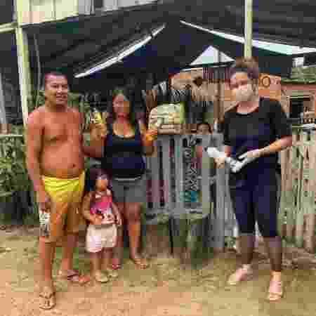 Entrega de doações à comunidade Inhaã-Bé, em Manaus (AM) - Thaianty Gonçalves/Arquivo pessoal - Thaianty Gonçalves/Arquivo pessoal