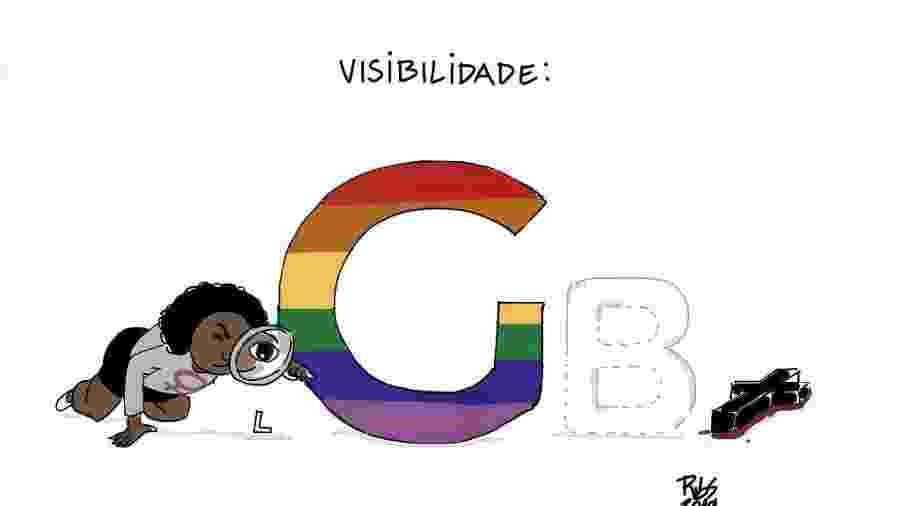 A charge do artista Ribs sobre visibilidade LGBT - Reprodução/Instagram