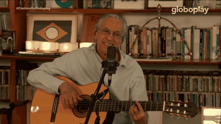 Live do Caetano Veloso - Reprodução - Reprodução