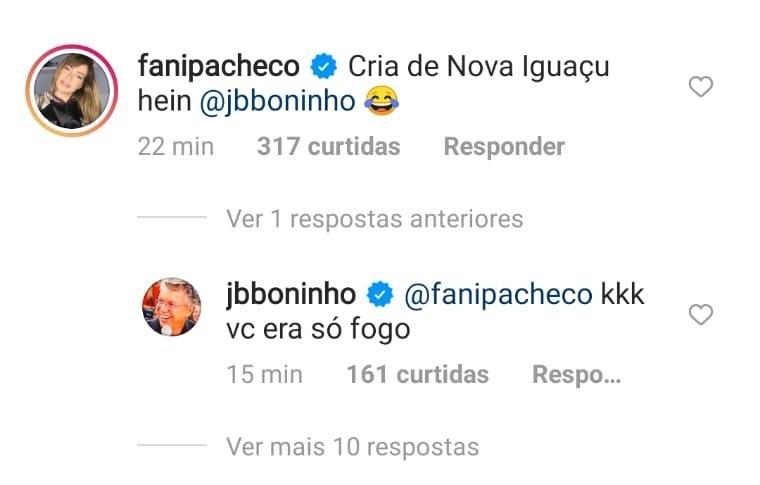 BBB 21: Fani Pacheco brinca com Boninho sobre Camilla de Lucas