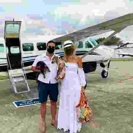Fred Santoro com esposa Silvia Menezes e cachorros - Arquivo pessoal - Arquivo pessoal