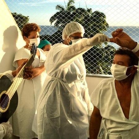 Funcionários e pacientes do Hospital Espanhol, na Bahia - Hospital Espanhol/Divulgação