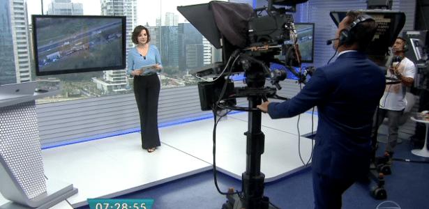 """Rodrigo Bocardi surpreende público ao aparecer como cinegrafista no """"Bom Dia São Paulo"""" - Reprodução/TV Globo"""