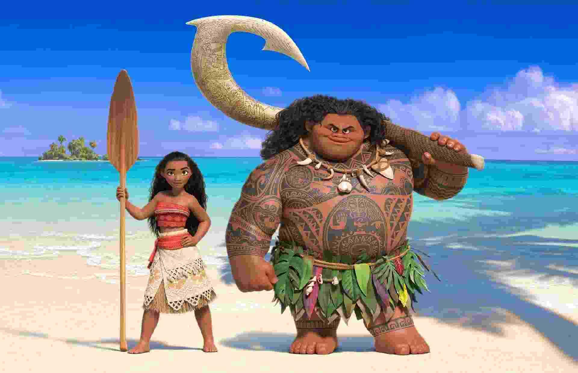 Moana e Maui, os personagens principais da nova animação da Disney - Divulgação