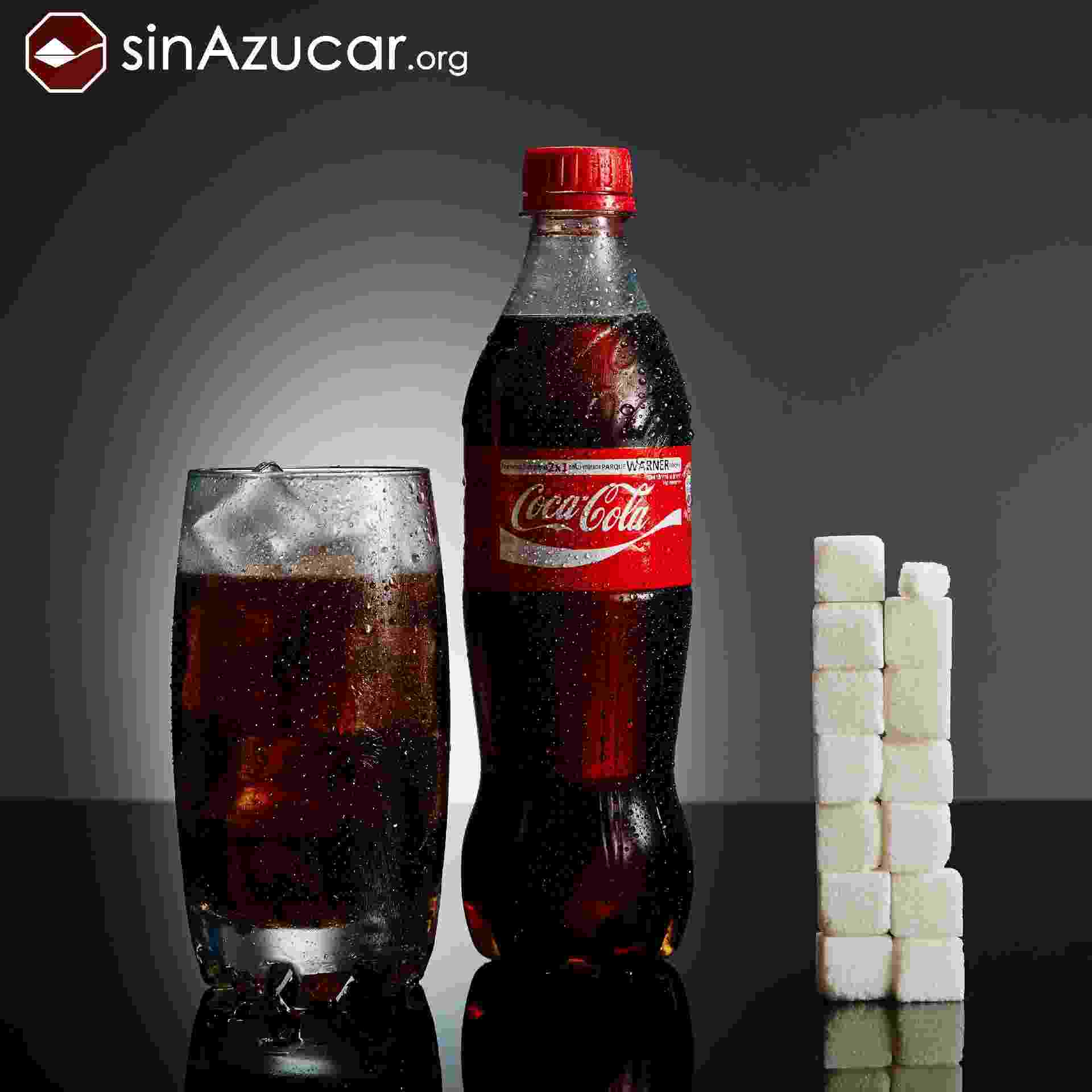 Projeto Sin Azúcar - Coca-cola - Reprodução/sinazucar.org