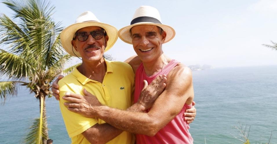 Mario e Guaraci Valente, o Gaúcho, amigo do ator há 40 anos, que está dando uma força no empreendimento