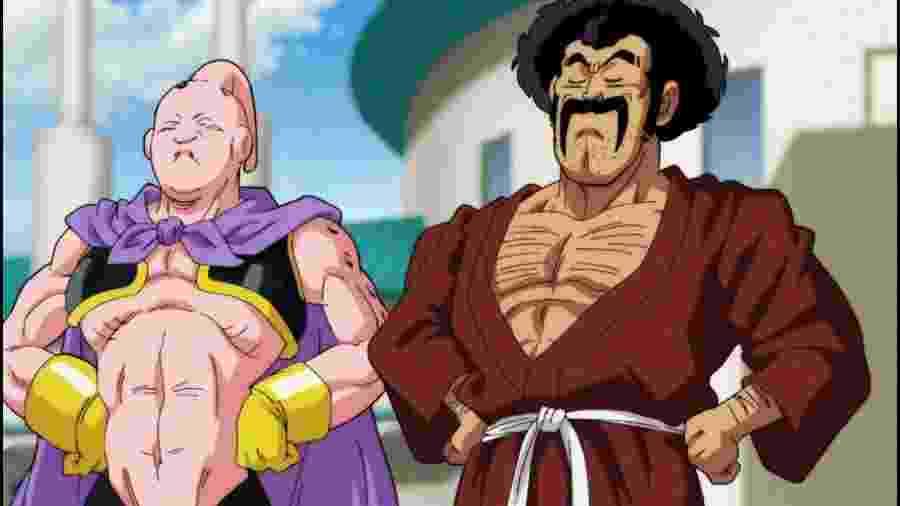 Sob a tutela de Mr. Satan, Majin Boo caprichou no treinamento e, além de mais forte, também mudou sua aparência - Reprodução