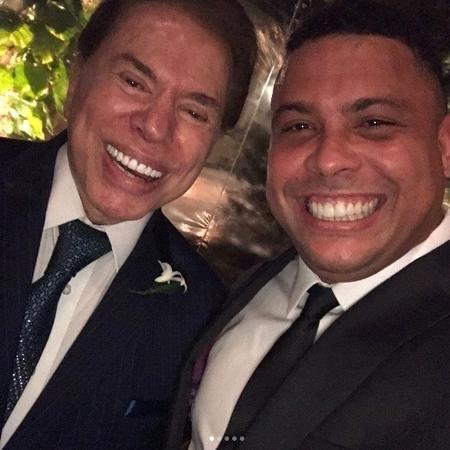 Ronaldo faz selfie com Silvio Santos - Reprodução/Instagram