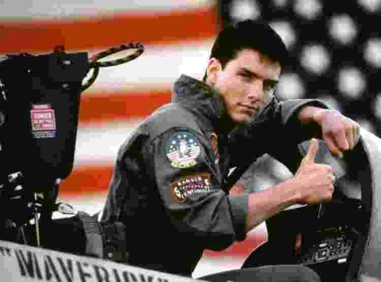 """Tom Cruise em cena de """"Top Gun"""" - Divulgação - Divulgação"""