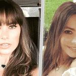 """A estrela da série """"Modern Family"""" manteve o comprimento do cabelão, mas o visual ganhou uma sexy franjinha, que cobre toda a testa. Será que o maridão dela, o ator Joe Manganiello, aprovou a mudança? - Reprodução/Instagram/sofiavergara"""