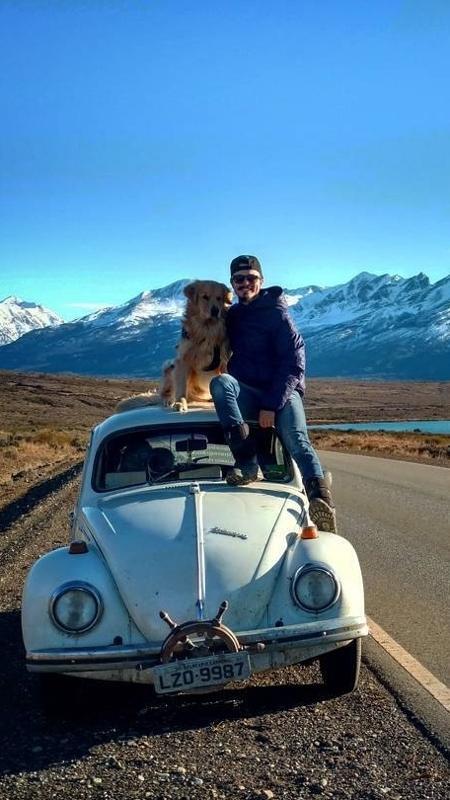Jesse viaja ao lado do cão pela América Latina - Reprodução/Instagram