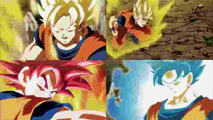 Nenhuma transformação tradicional surtiu efeito contra Jiren; uma a uma, as transformações em Super Saiyajin foram anuladas pelo adversário - Reprodução