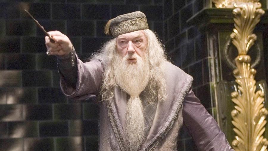 O diretor de Hogwarts, Alvo Dumbledore  - Reprodução