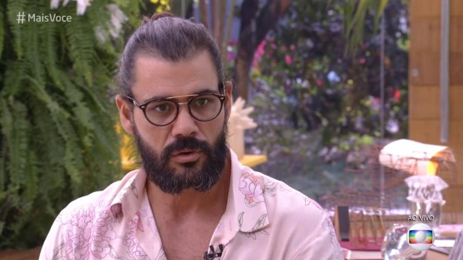 """Juliano Cazarré no """"Mais Você"""" - Reprodução/Globo"""