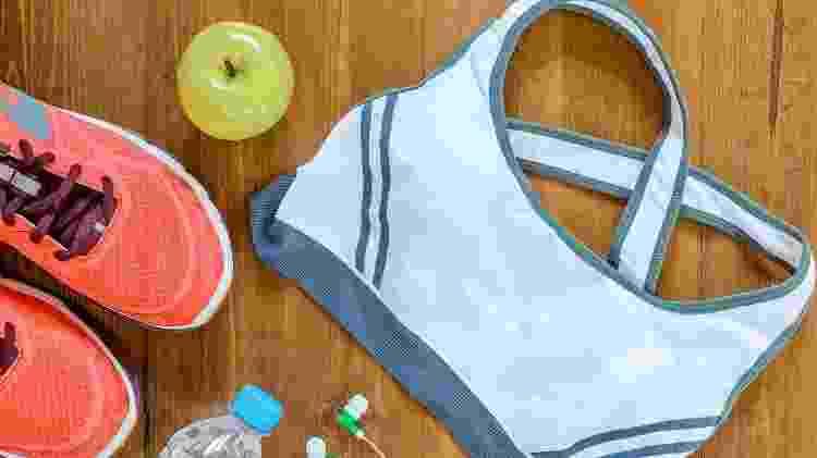Top esportivo, roupa de treino, academia - iStock - iStock