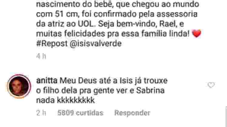 Anitta brincou com Sabrina Sato - Reprodução/Instagram/hugogloss - Reprodução/Instagram/hugogloss