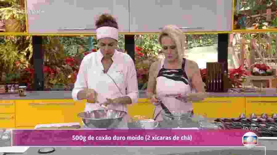 """Público aponta presença de inseto em prato no """"Mais Você"""" - Reprodução/TV Globo"""