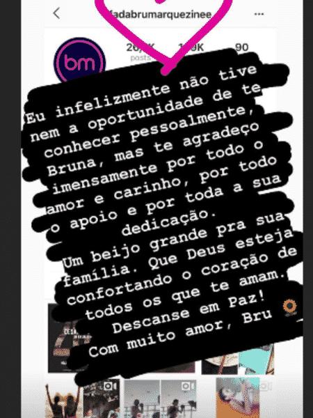 Bruna Marquezine lamenta morte de fã - Reprodução/Instagram - Reprodução/Instagram