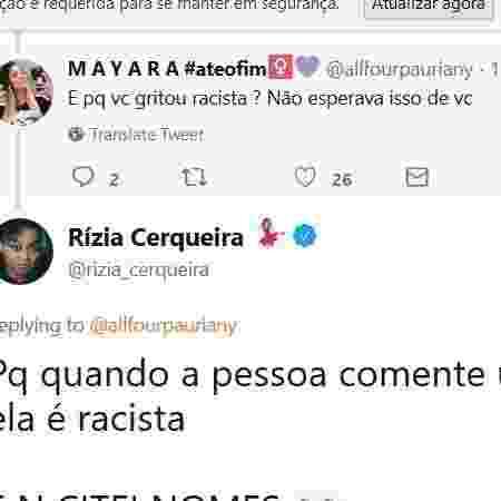 Post de Rízia respondendo a seguidora  - Reproduçãp/Instagram/@riziacerqueira - Reproduçãp/Instagram/@riziacerqueira
