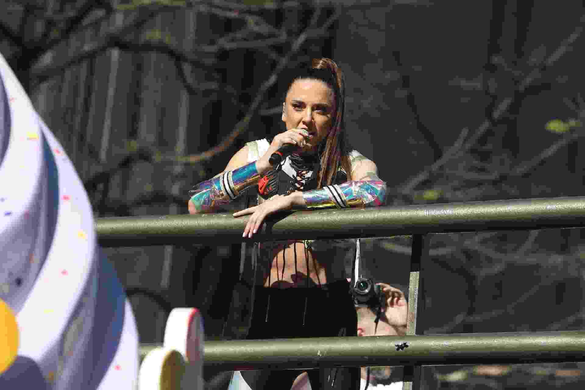 A Spice Girl Mel C fez show neste domingo (23) em um trio elétrico durante a Parada do Orgulho LGBT em São Paulo - Marcello Sá Barreto/Brazil News