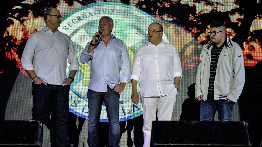 Evento na quadra de Vila Isabel foi prestigiado por dois governadores: o do Distrito Federal, Ibaneis Rocha, e o do Rio de Janeiro, Wilson Witzel - Eduardo Hollanda/Divulgação