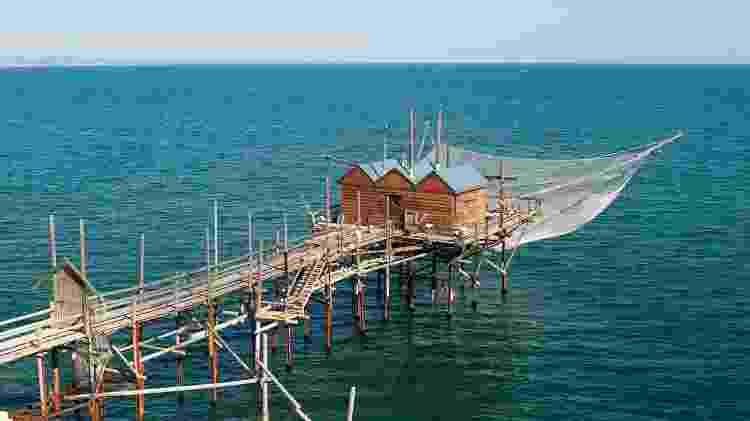 A cidade de Termoli é famosa por suas cabanas de pesca tradicionais que ficam sobre palafitas - Getty Images/iStockphoto