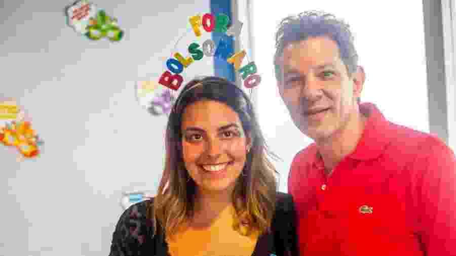 Haddad posa com foliã durante o Acadêmicos do Baixa Augusta - Edson Lopes Jr./UOL