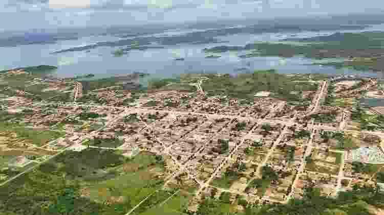 Vista aérea de Varjota, cidade do poeta Maílson Furtado - Arquivo pessoal - Arquivo pessoal
