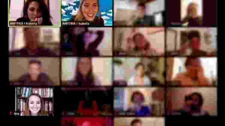 Ao todo, havia 18 pessoas na sala do Zoom - Acervo pessoal - Acervo pessoal