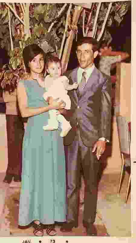 Micheliny bebê com os pais - Arquivo Pessoal - Arquivo Pessoal