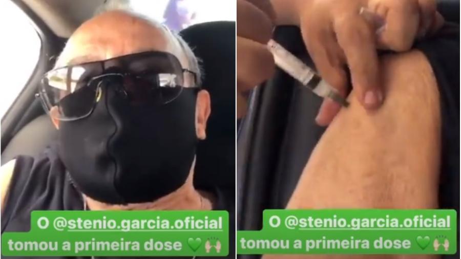 Stênio Garcia recebeu a vacina contra a covid-19 - Reprodução/Instagram