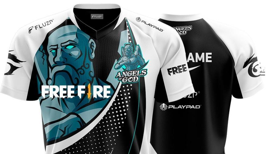 Fora do jogo o Free Fire está na moda e na mira de quem é fã  - Reprodução/DonaldJuniorUniformes