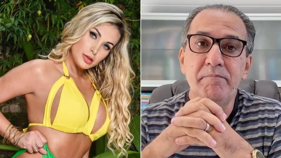 Andressa Urach alega que sofreu danos morais e por isso entrou com processo contra o pastor Silas Malafaia - Fotomontagem/Reprodução/Instagram
