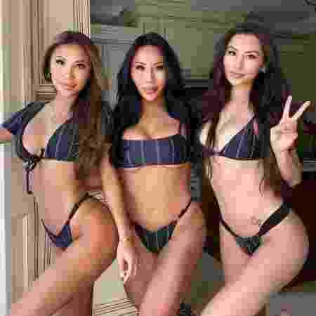 Yun Lucy Lu Lin e as irmãs gêmeas - Instagram/@miaatriplets - Instagram/@miaatriplets