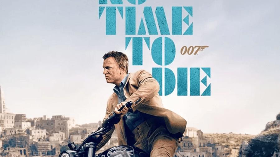 """Põster do filme """"007 - Sem Tempo Para Morrer"""" - Reprodução"""