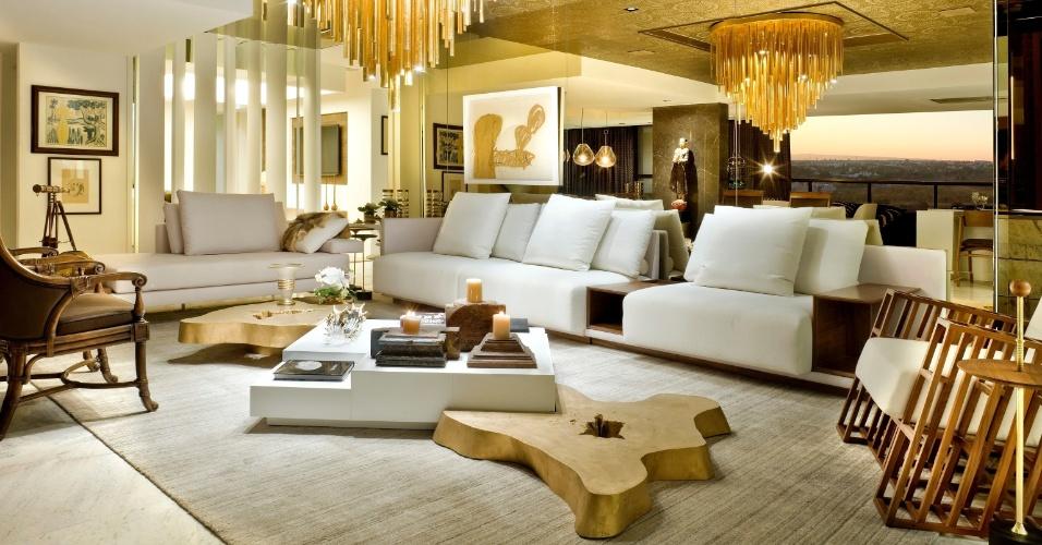 Decoracao De Sala Luxo ~ Nada de isolar a sala de TV do restante da casa! No projeto Luxo