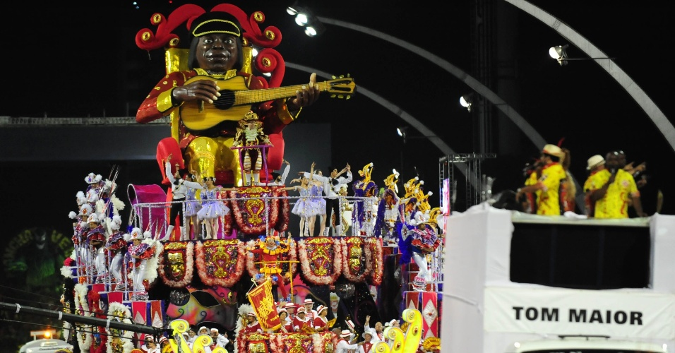 12.fev.2016 - Milton Nascimento, que desfilou no dia 7 no último carro da Tom Maior, não apareceu no desfile das campeãs