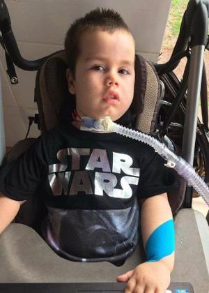 Davi Pereira Martins, 4, tem atrofia muscular espinhal (AME)