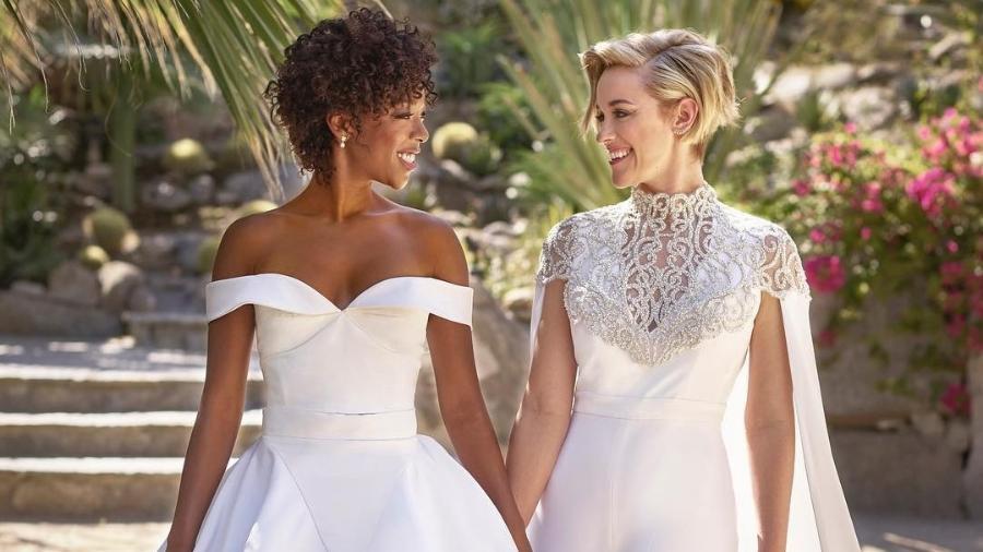 """A atriz Samira Wiley, de """"Orange is the New Black"""", se casa com a roteirista da série, Lauren Morelli - Reprodução/Instagram/martha_weddings"""