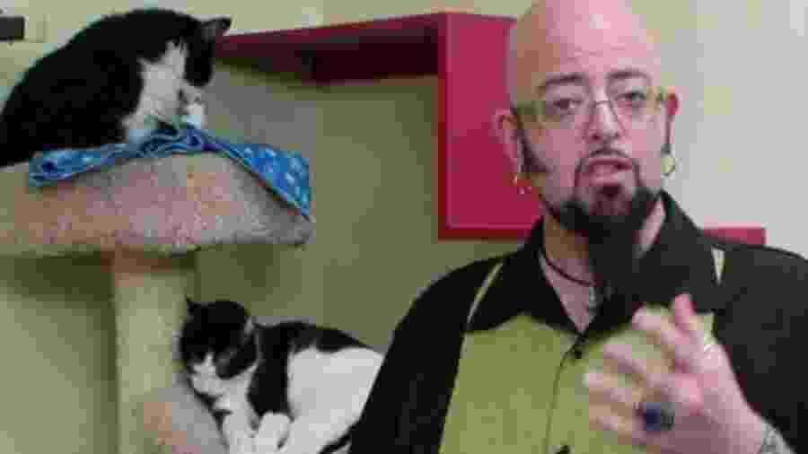 """O adestrador de felinos Jackson Galaxy, do programa """"Meu Gato Endiabrado"""", do Animal Planet - Divulgação"""