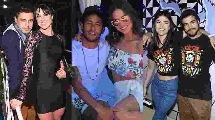 Graciele e Zezé, Bruna Marquezine e Neymar e Caio Castro e Maria Casadevall - Montagem/UOL