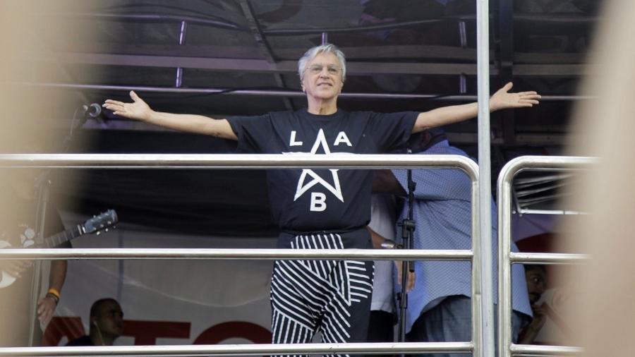 Caetano Veloso chega ao Largo da Batata para o ato-show nos 20 anos do MTST (Movimento dos Trabalhadores Sem Teto) - Marcelo Justo/UOL