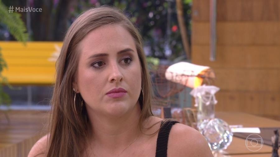 """Ex-BBB Patricia, no """"Mais Você"""" - Reprodução/Globo"""
