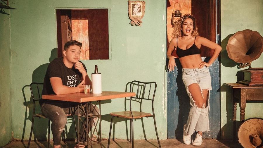 """Juntos em Fortaleza, Wesley Safadão e Anitta gravam clipe de """"Romance Com Safadeza"""" - Ederson Lima/Divulgação"""