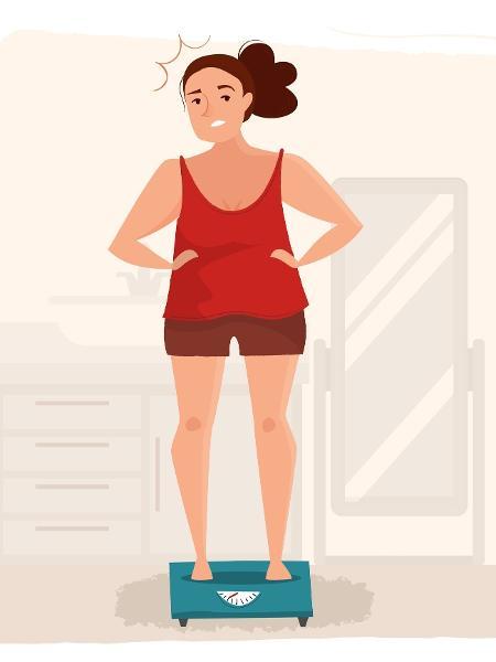 Fique de olho na balança. O perde e ganha de peso aumenta o risco de diabetes e morte por doenças como infarto e AVC - Arte/ iStock