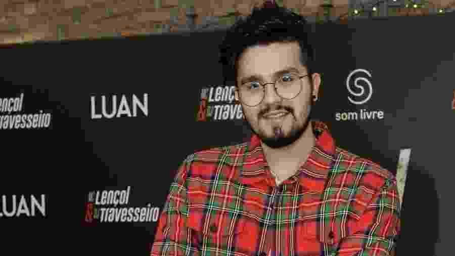 """Luan Santana participa de coletiva em São Paulo para divulgar o single """"MC Lençol e DJ Travesseiro? - Francisco Cepeda/AgNews"""